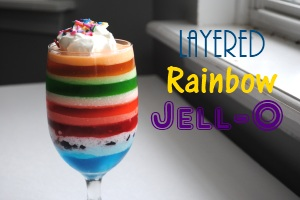Layered Rainbow Jell-O