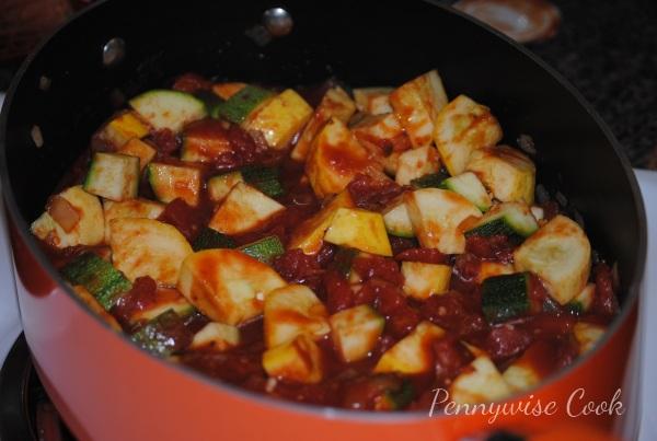 Zesty Squash and Z 21 Zesty Squash and Zucchini Over Gnocchi