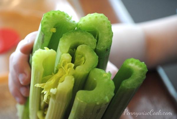 41 Kid Friendly Craft: Celery Art