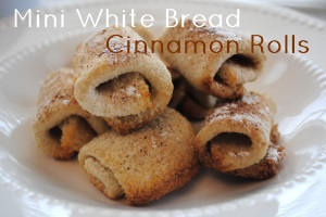 Mini  White Bread Cinnamon Rolls