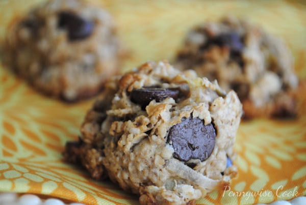 Peanut Butter & Banana Chocolate Chunk Cookies