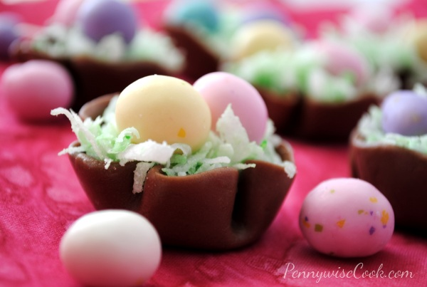 Tootsie Roll Easter Baskets 2 Easter Treats Week: Tootsie Roll Easter Nests