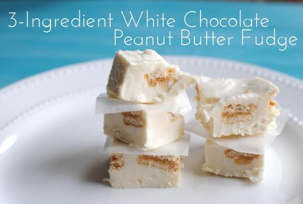 3 Ingredient White Chocolate Peanut Butter Fudge 4 3 Ingredient White Chocolate Peanut Butter Fudge