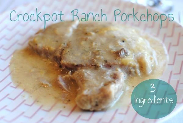 Crockpot Ranch Porkchops 3 Ingredient Crockpot Ranch Porkchops