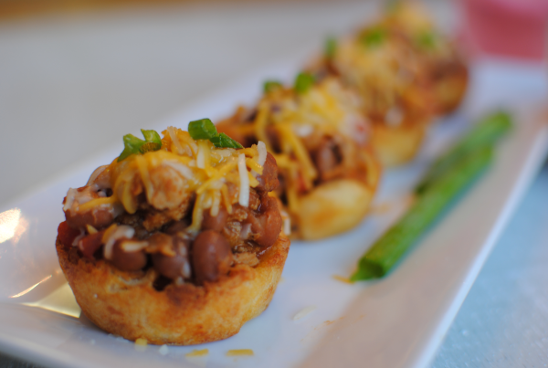 Chili Cheese Fry Cupcakes