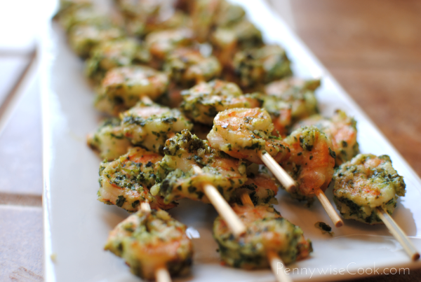 Cilantro Lime Pesto Shrimp