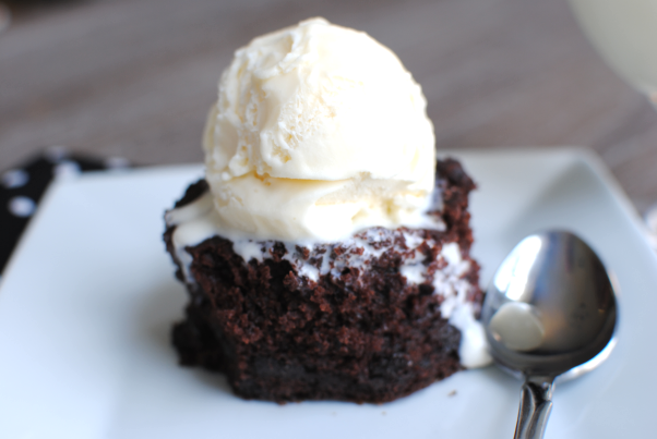 Crockpot Hot Fudge Cake