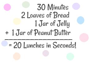 Freezer PB J 6 Freezer Peanut Butter and Jelly Sandwiches