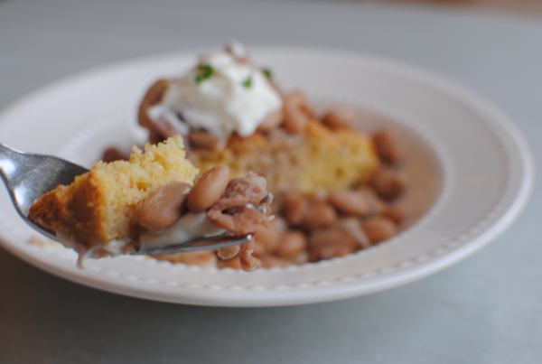 Crockpot Pinto Beans and Cornbread