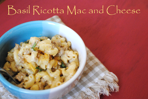 Basil Ricotta Mac and Cheese 1 Basil Ricotta Mac and Cheese