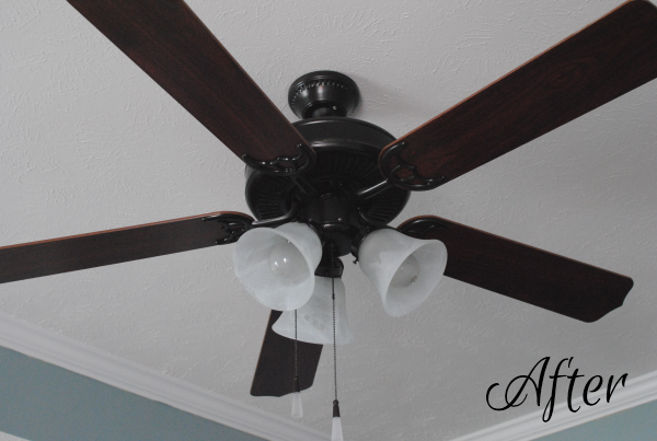 Ceiling Fan Makeover 1 This Makeover Has Hit the Fan {Before & After}
