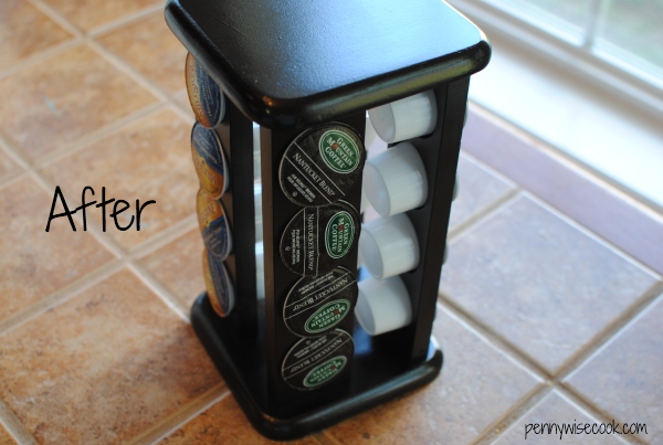 K Cup Holder After From Spice Rack to K Cup Holder {Before & After}