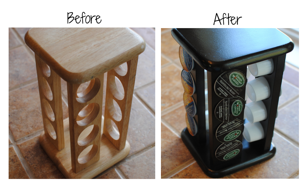 K Cup Holder Before and After From Spice Rack to K Cup Holder {Before & After}