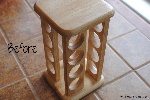 K Cup Holder Before From Spice Rack to K Cup Holder {Before & After}