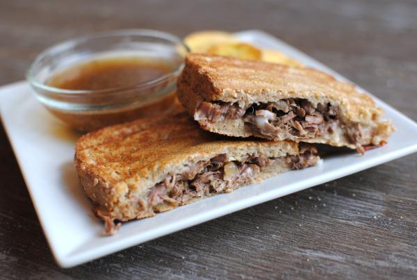 Slow Cooker French Dip Panini Recipe — Dishmaps