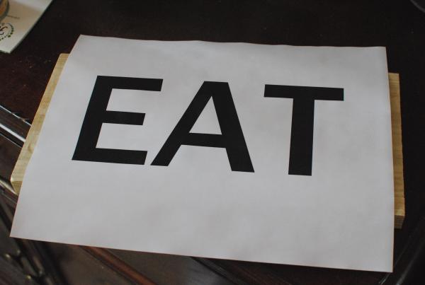 DIY Eat Sign 5 DIY Wooden Eat Sign