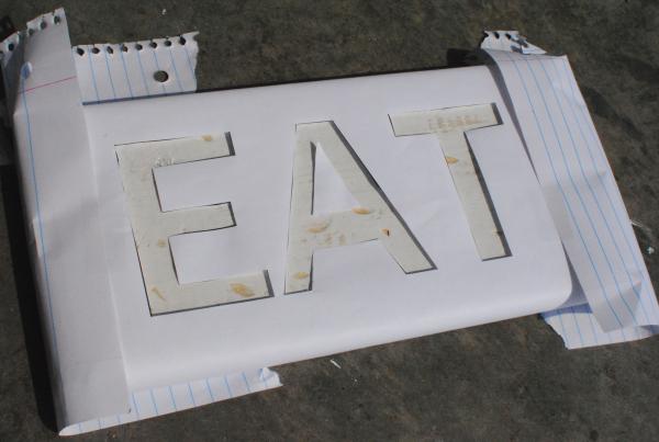 DIY Eat Sign 6 DIY Wooden Eat Sign