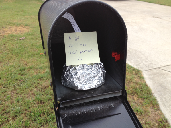 Mail Person Gift A Day of Random Acts of Kindness