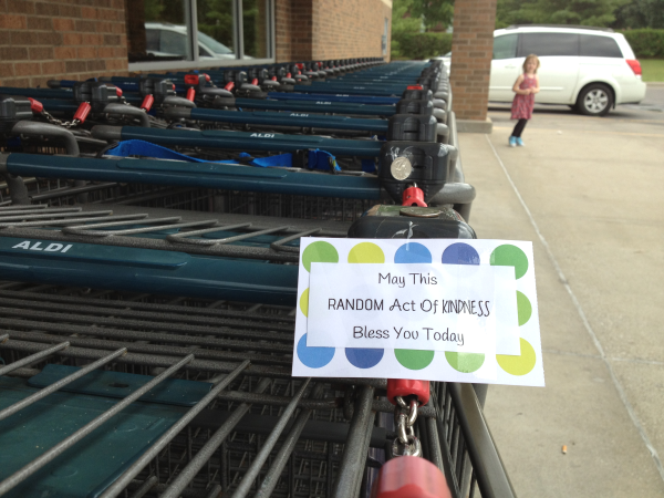 Quarters on Aldi Buggies A Day of Random Acts of Kindness