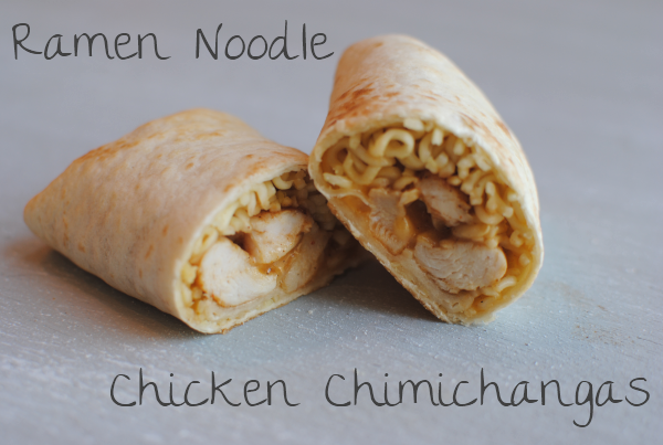 Ramen Noodle Chicken Chimichangas 9 Ramen Noodle Chicken Chimichangas