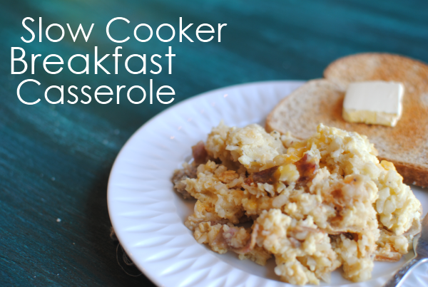 Slow Cooker Breakfast Casserole 1 Slow Cooker Breakfast Casserole