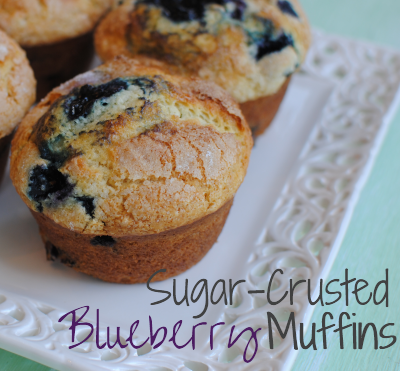 Sugar Crusted Blueberry Muffins 2 Sugar Crusted Blueberry Muffins