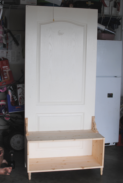 How To Build A Hall Tree From An Old Door