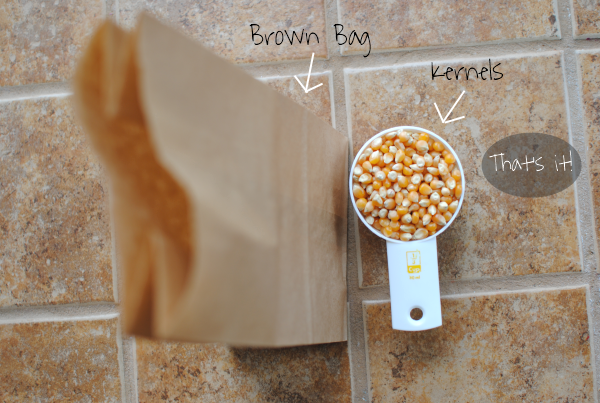 how to make popcorn in a bag