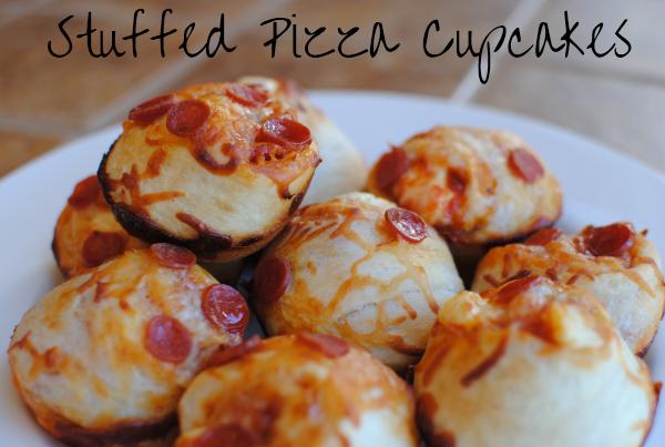Stuffed Pizza Cupcakes