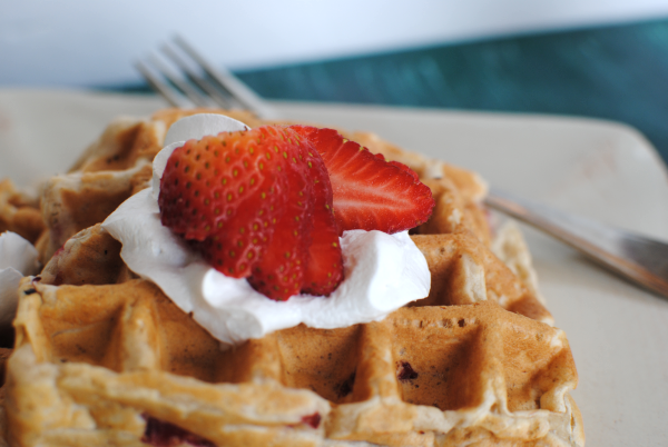 Strawberry Belgian Waffles 3 Homemade Strawberry Belgian Waffles