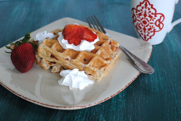 Strawberry Belgian Waffles 4 Homemade Strawberry Belgian Waffles