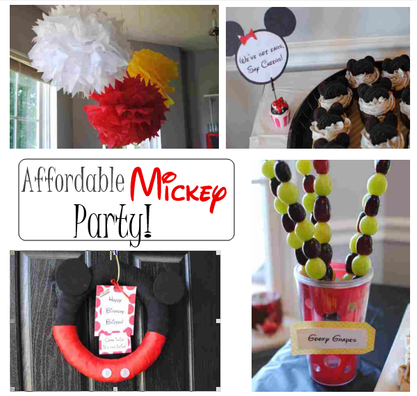 Mickey Party Collage Affordable Mickey Mouse Party