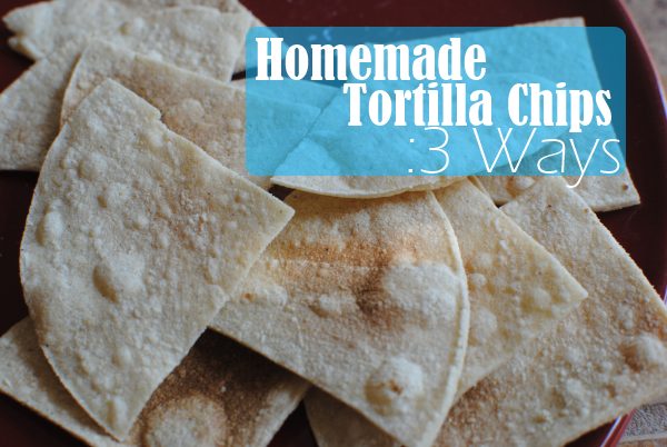 Homemade Tortilla Chips 1 Homemade Tortilla Chips: 3 Ways