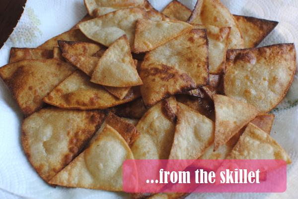 tortilla chips from the skillet Homemade Tortilla Chips: 3 Ways