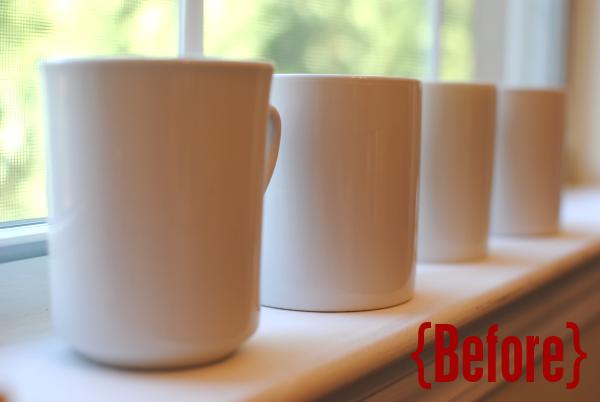 DIY Mugs Before DIY Personalized Gift Mugs