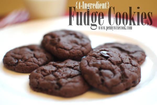 Fudge Cookies 2 4 Ingredient Fudge Cookies