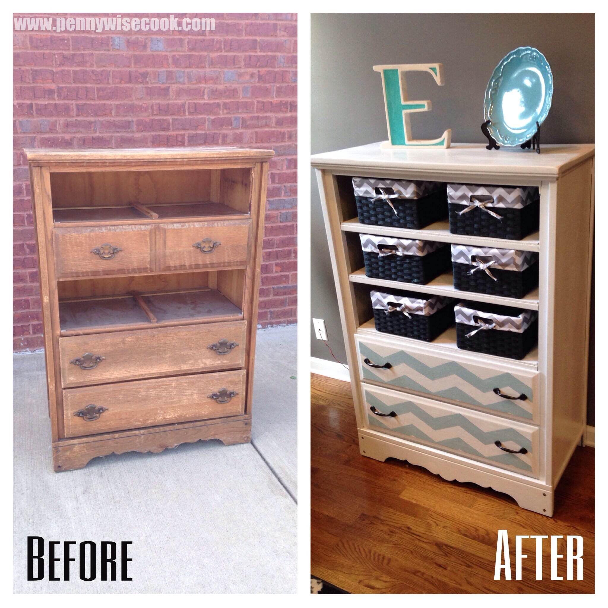 Diy dresser to storage pennywise cook for Diy ideas for old dressers