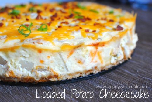 Loaded Potato Cheesecake