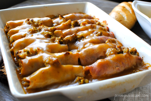 Turkey Dressing Enchiladas