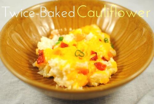 Twice Baked Cauliflower1 13 Thanksgiving Side Dish Ideas
