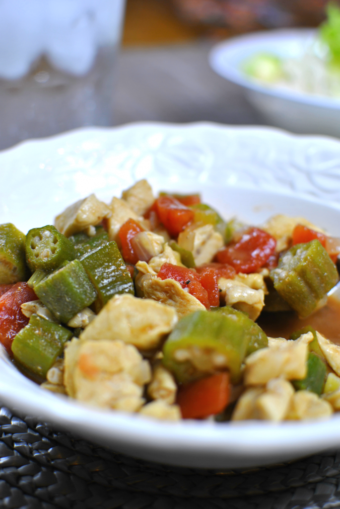 Chicken and Okra Skillet 4