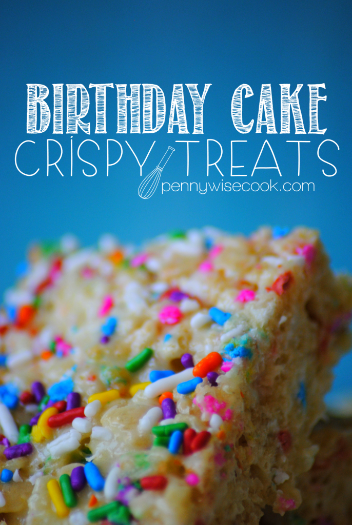 Birthday Cake Crispy Treats